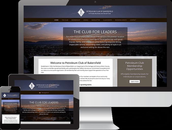 Petroleum Club Of Bakersfield Web Design The Marcom Group