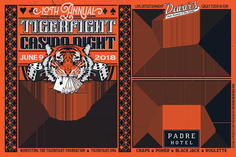 AC4865 TigerFight Foundation - 2018 Casino Night Photo Booth Frame ...