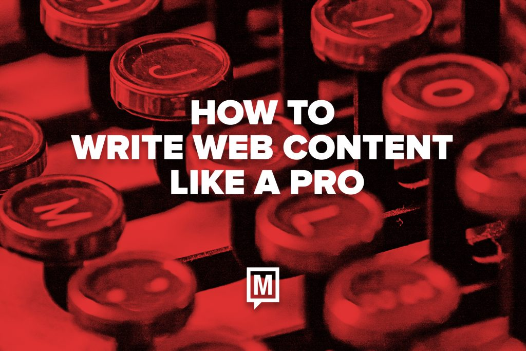 How to Write Web Content Like a Pro